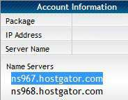 Hostgator Name Server Information