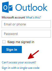 How to Recover Your Hotmail Password - 1