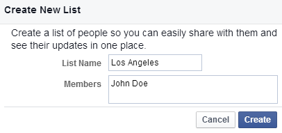 How to Create Friends Lists by City in Facebook - 3