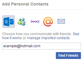 How to Import Outlook (Hotmail) Contacts into Your Facebook Account - 2