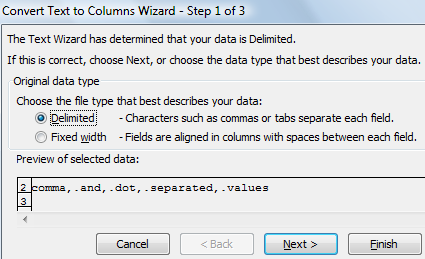 How to Use Multiple Character Delimiters in Excel - 2