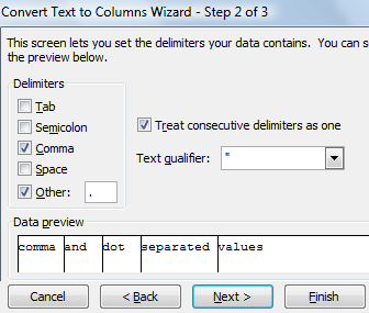 How to Use Multiple Character Delimiters in Excel - 3