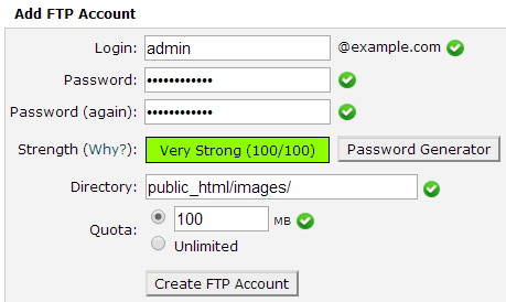 How to Set FTP Quota for an FTP Account - 2